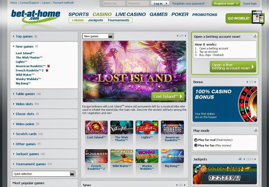 Bet-at-home Casino Screen
