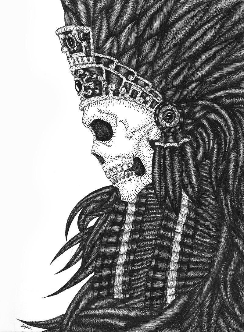 Guerrero Azteca Luis Lizárraga