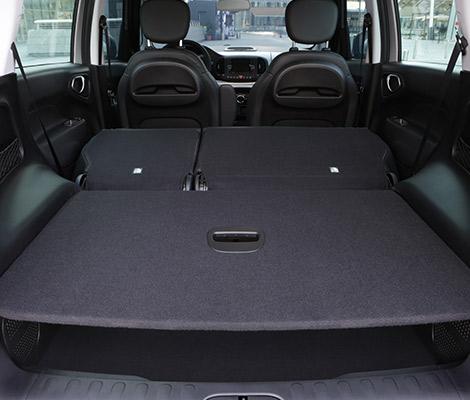 Bagagliaio Fiat 500L Trekking: capacità volumetrica in litri