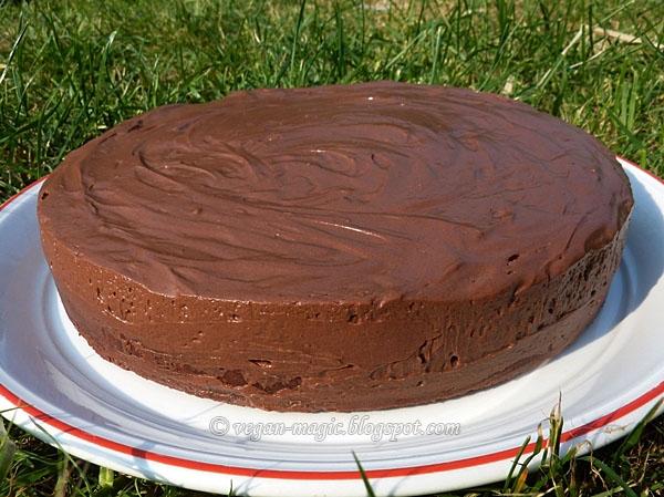Baked Chocolate Mousse Cake