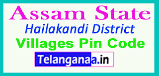 Hailakandi District Pin Codes in Assam State