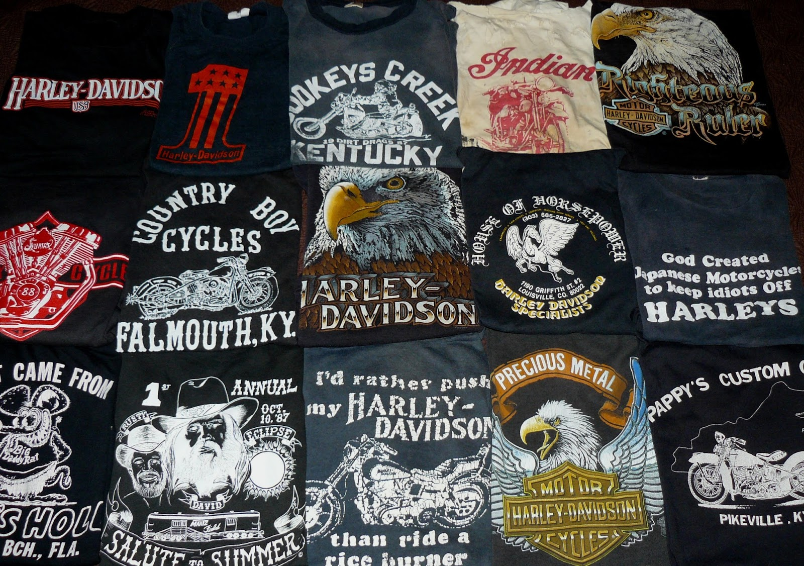 Vintage Harley Davidson T Shirt: THRIFT SCORE...and More...: Today's Thrift Score...Vintage