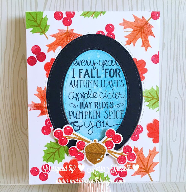 Sunny Studio Stamps: Autumn Splendor Fall Leaves card by Maria Russell.