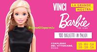 Logo Vinci 100 biglietti per la mostra di Barbie a Roma