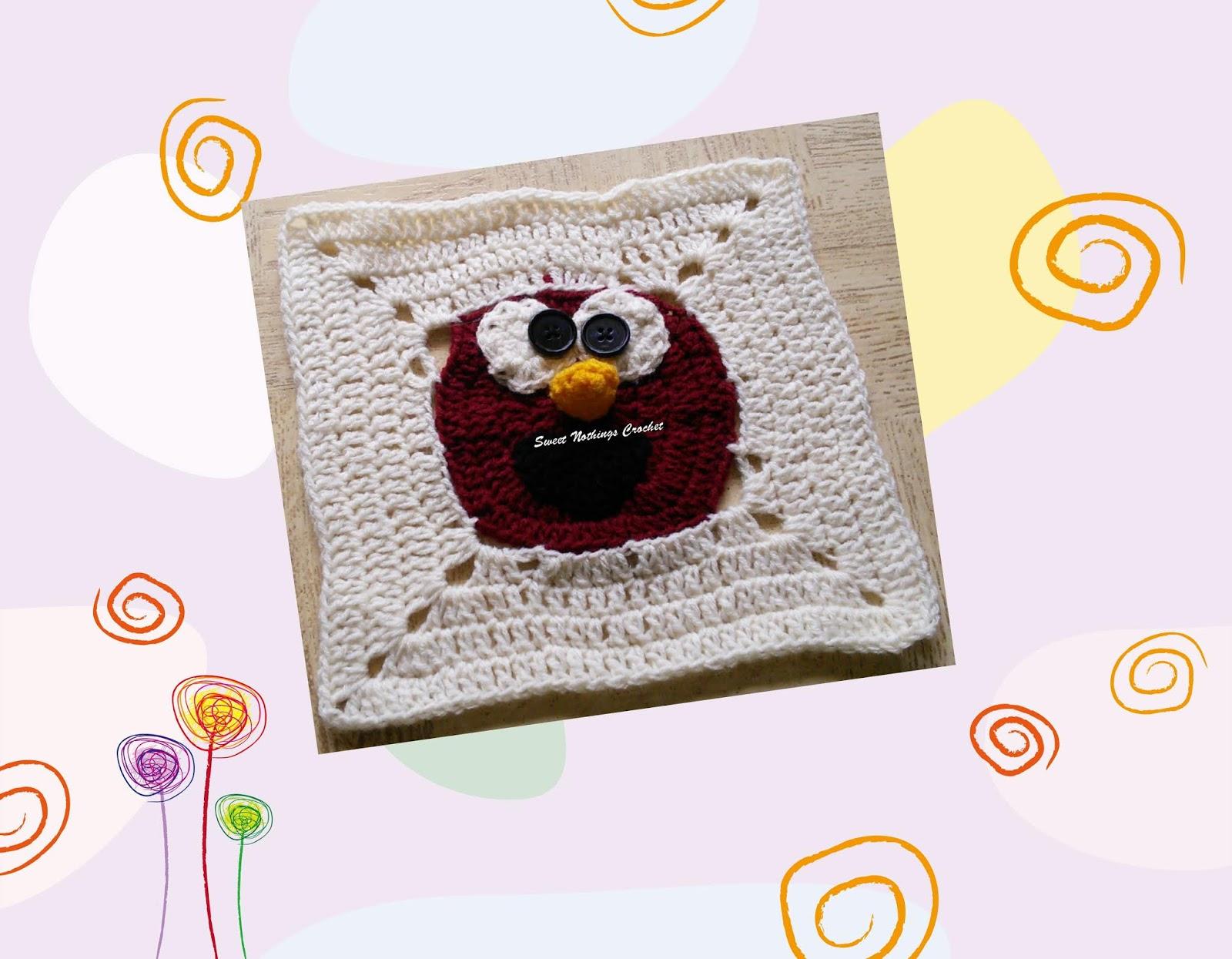 sweet nothings crochet elmo sesame street granny square in the