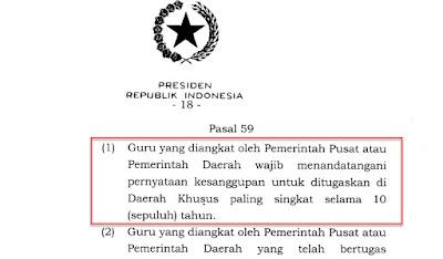 PP No. 19, Guru PNS Wajib Bertugas 10 Tahun di Daerah Khusus