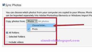 cara pindah foto dari laptop ke itunes
