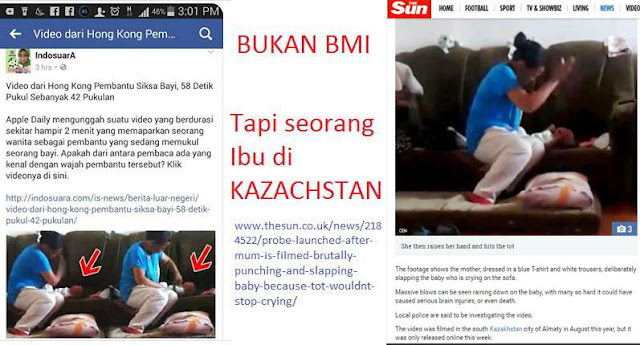 Video Pembantu Siksa Bayi Adalah di Kazachstan  Bukan BMI Hong Kong