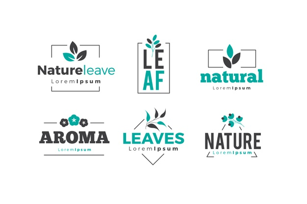 Natural logo collection in minimal style Free Vector