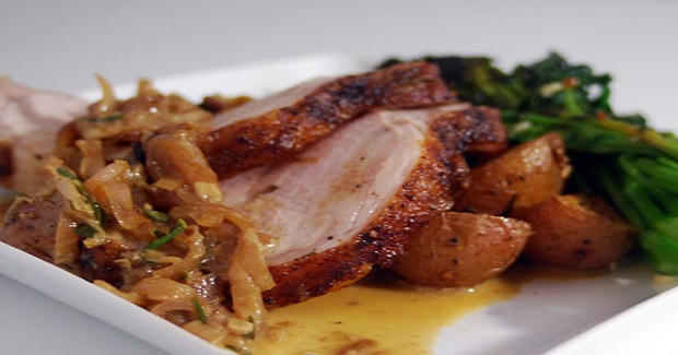 Roasted Pork Loin With Shallot And Tarragon Cream Recipe