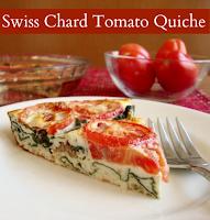 http://realfoodrealdeals.com/crustless-swiss-chard-tomato-quiche/
