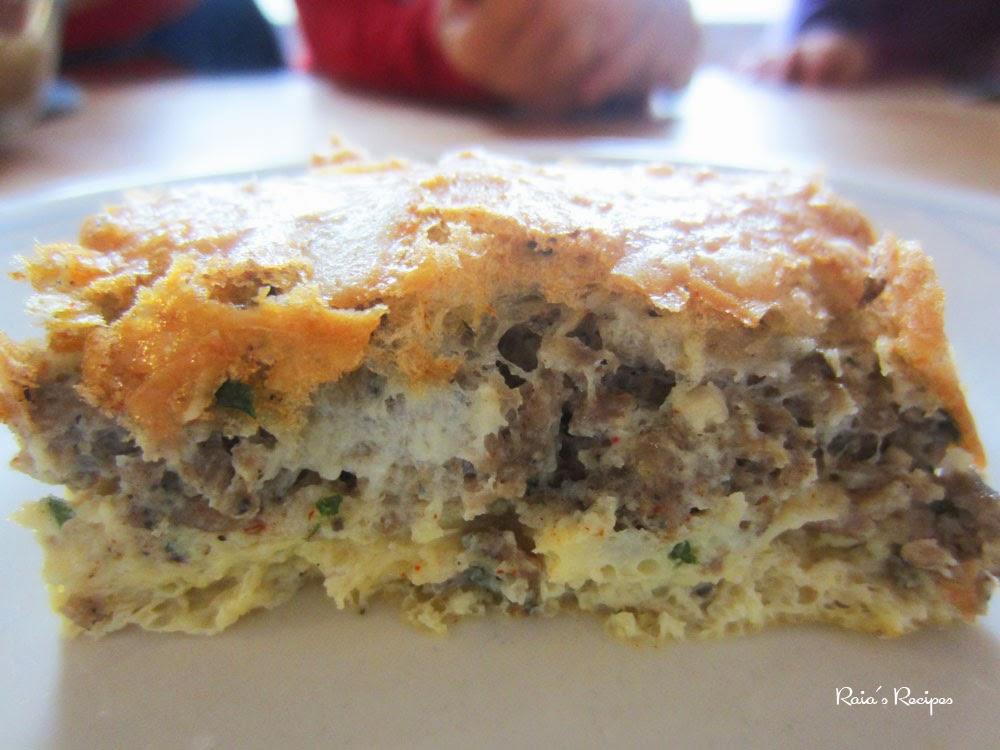 Fluffy Crustless Quiche by RaiasRecipes.com