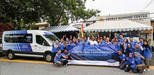 Motoring malaysia happenings ford malaysia csr volunteer for Ford motor company charitable giving