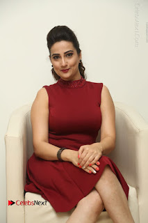 Telugu Tollywood Anchor Manjusha Pos in Red Short Dress  0049.JPG