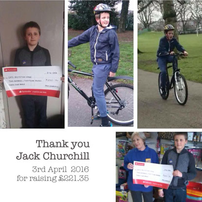 Jack Churchill's raising funds for Cats Protection
