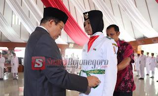 Bupati Suyoto Kukuhkan 72 Orang Paskibraka