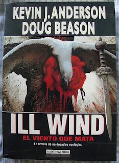 Portada del libro Ill Wind. El viento que mata, de Kevin J. Anderson y Doug Beason