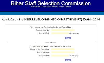 bssc.bihar.gov.in interadmitcard download bssc inter level hall ticket 2018