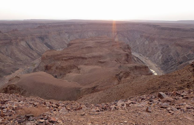 tramonto sul fish river canyon