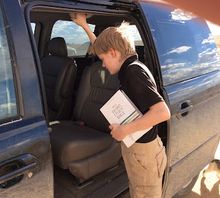 Richard getting into the van with the NKJV Word Study Bible, ready to head to youth group