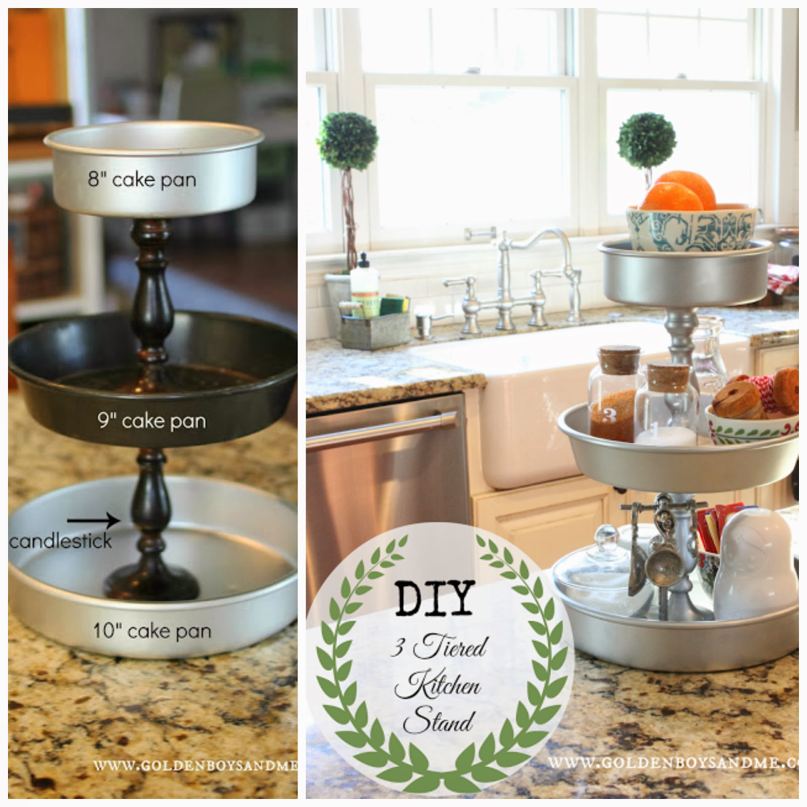 Diy 3 Tiered Kitchen Stand From Www Goldenboysandme