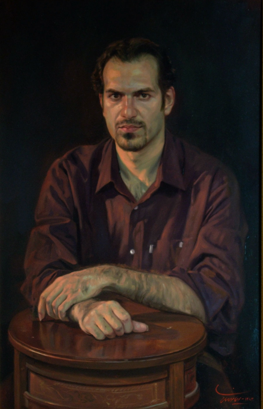 06-Portrait-of-a-Young-Man-Iman-Maleki-Realistic-Paintings-that-Portray-Intense-Expressions-www-designstack-co