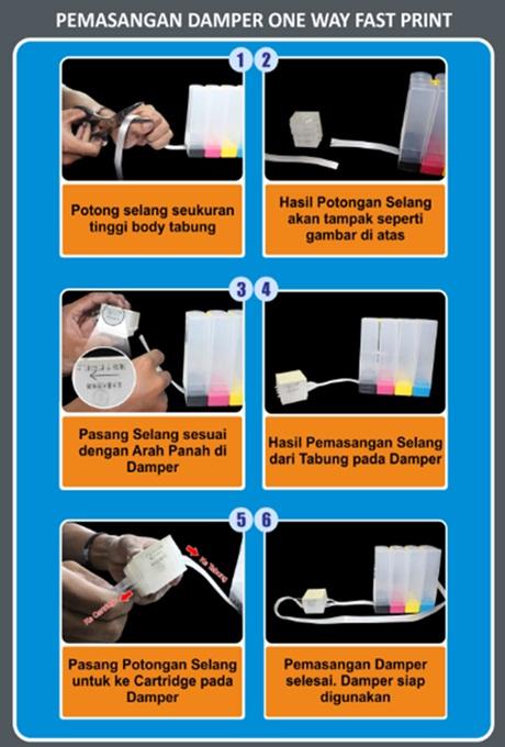 Cara Memasang Damper Ciss Pada Printer Infus