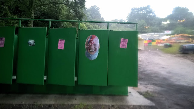 Glastonbury toilets - Michael Eavis Bowie