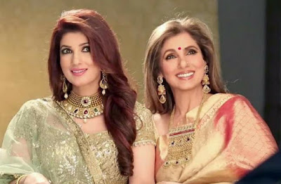 Twinkle Khanna and Dimple Kapadia  Bollywood celebrities who