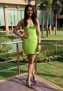 Beautiful Indian Girl Rakul Preet Singh Long Cross Legs In Green Top (1)