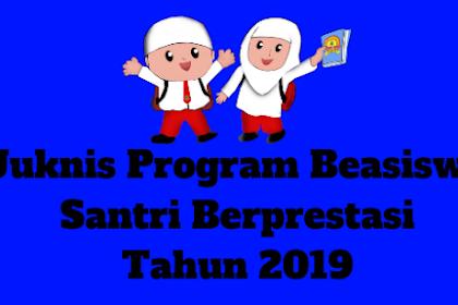 Juknis Program Beasiswa Santri Berprestasi Tahun 2019