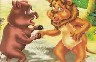 El leon y el jabali