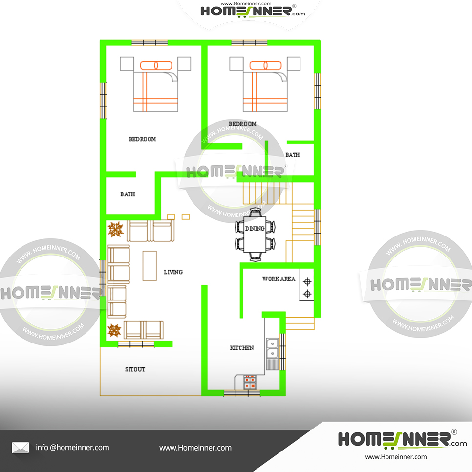 Free 4 bedroom 2 story house plans Kerala style
