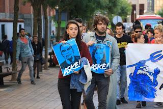 Manifestación en apoyo a los condenados de Alsasua