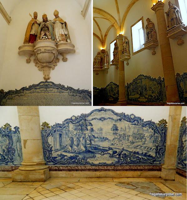 A Sala dos Reis, no Mosteiro de Alcobaça, Portugal