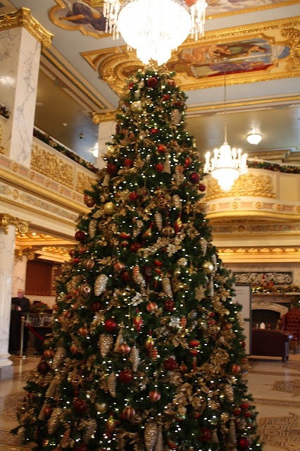 Stunning main Christmas tree at French Lick Springs Hotel