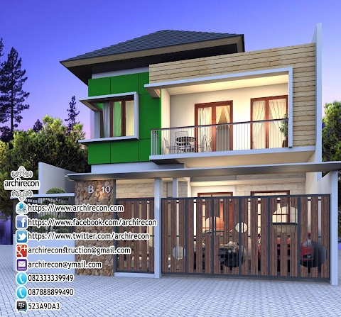 Jasa Inspirasi Rumah 2 Lantai Di Lahan Hook 082-33333-9949