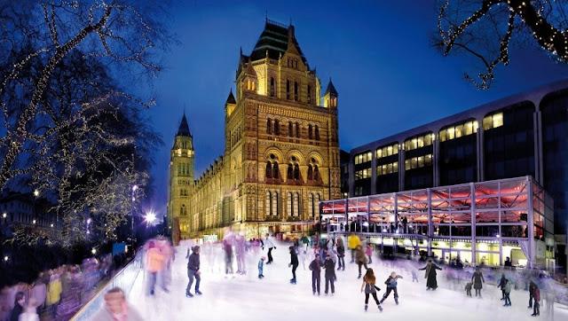 Patinar no gelo em Londres