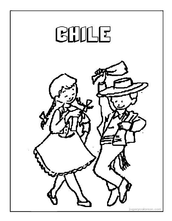 Pinto Dibujos Fiestas Patrias De Chile Para Colorear Auto