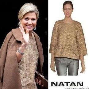Queen Maxima wore Natan Dress coat