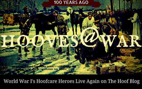 Fran Jurga`s Hoof Blog: News from Hoofcare + Lameness: Hooves@War: Did the Paths of This Vet and Farrier Cross in World War I?