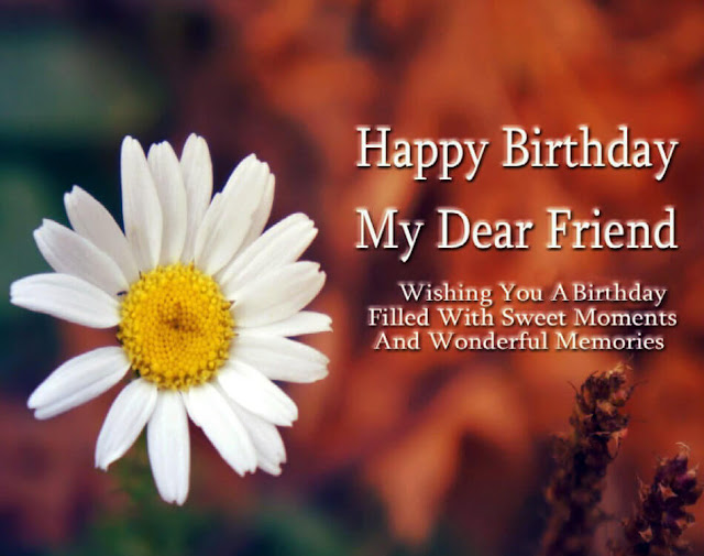 Happy Birthday Friend flower images, photo, wallpaper HD