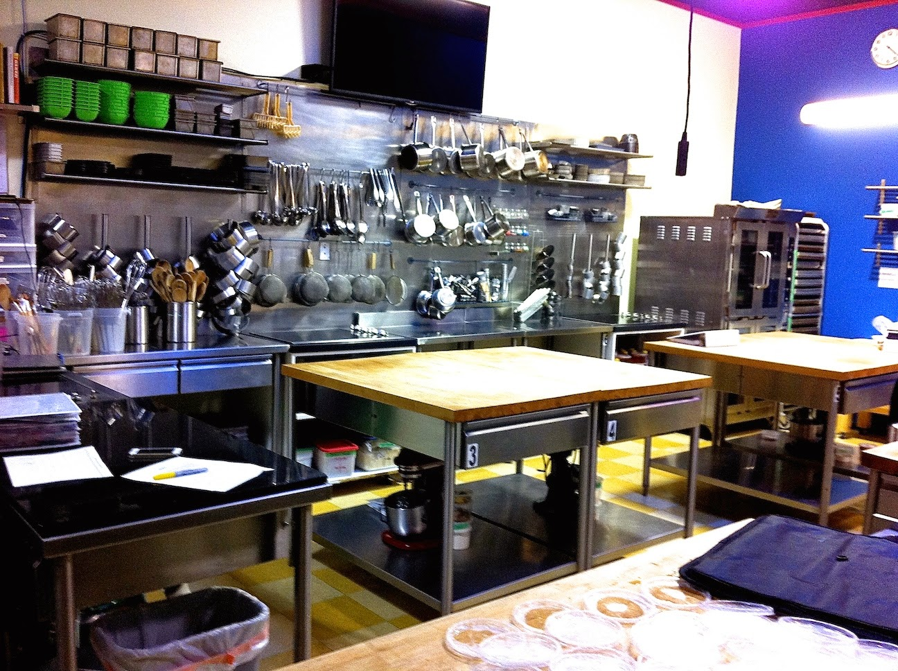 A pastry kitchen