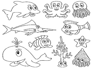 Cute Ocean Animal Coloring Pages