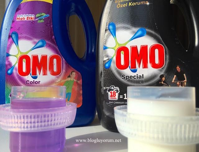 omo color renkli omo special siyah sıvı çamaşır deterjanı