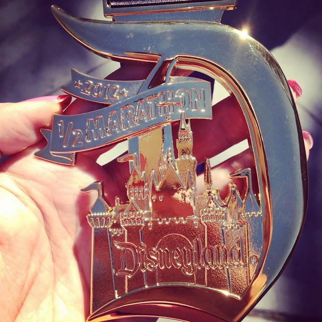 Disneyland Half Marathon 2012 medal
