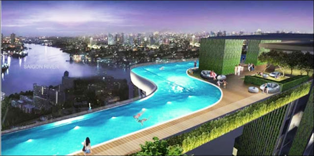 Swimming pool Sensation Thao Dien apartment District 2