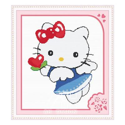 Trang tri phong ngu Hello Kitty dep 18