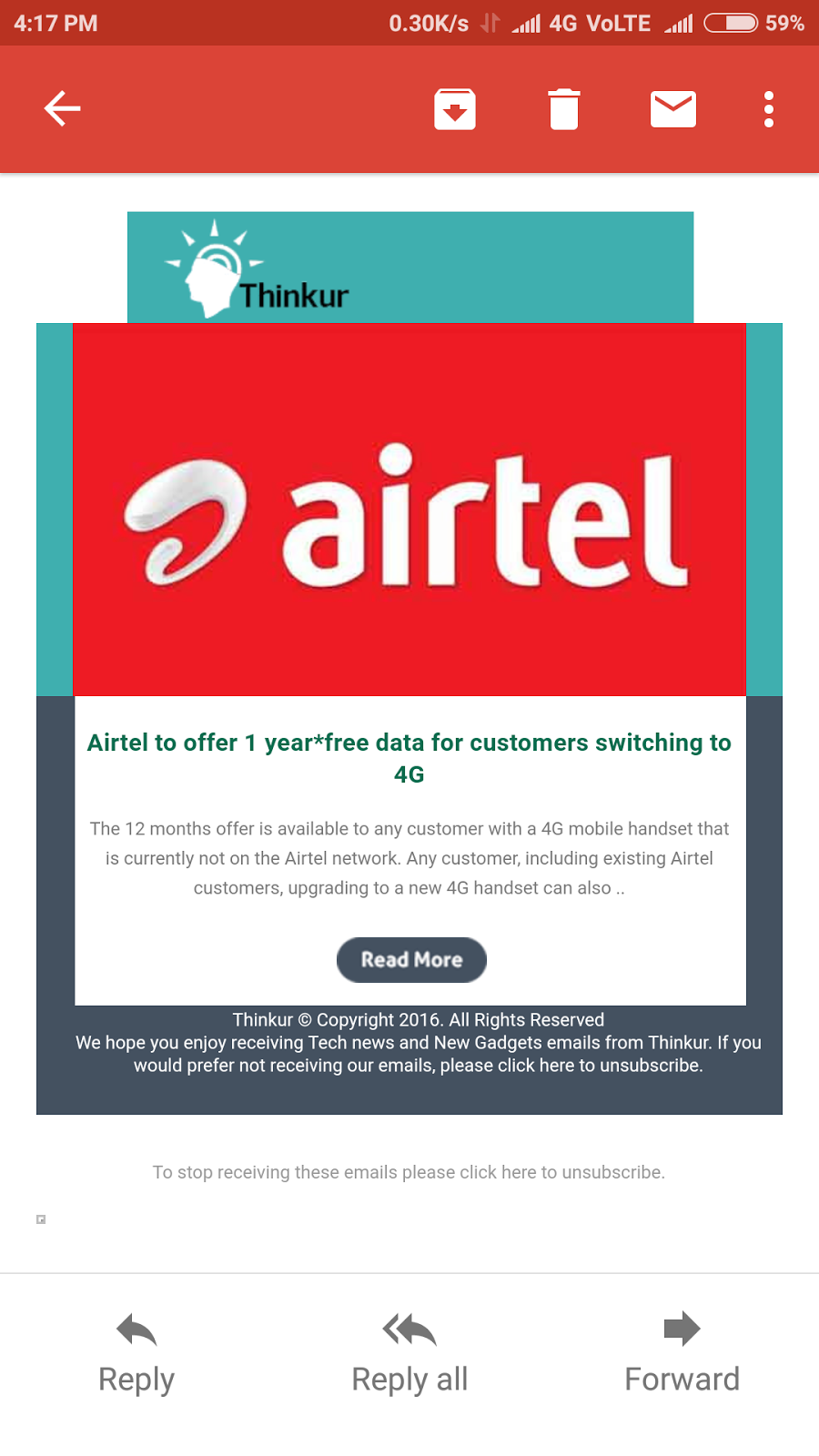 Airtel to give 1 year free data for 4g customers
