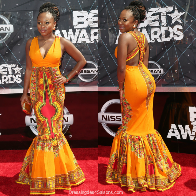 Dressing des 4 Saisons Kyemah McEntyre African style Dashiki Dress robe Naturi Naughton BET Awards 2015 Concours